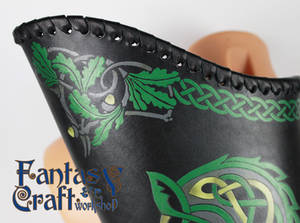 Leather quiver Celtic Wolf