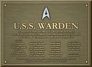 Dedication Plaque - U.S.S. Warden