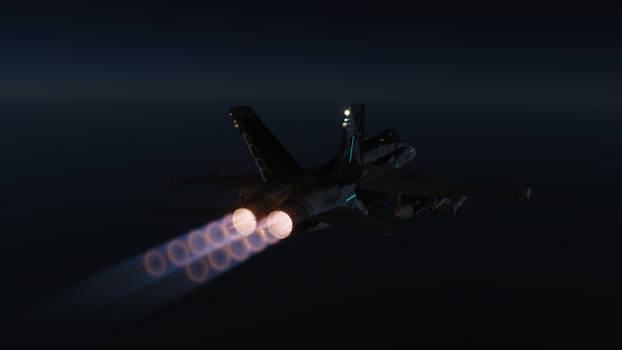 Hornet at Night