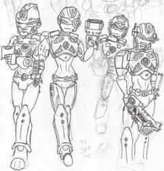 HF Doodles: Sonya +the team