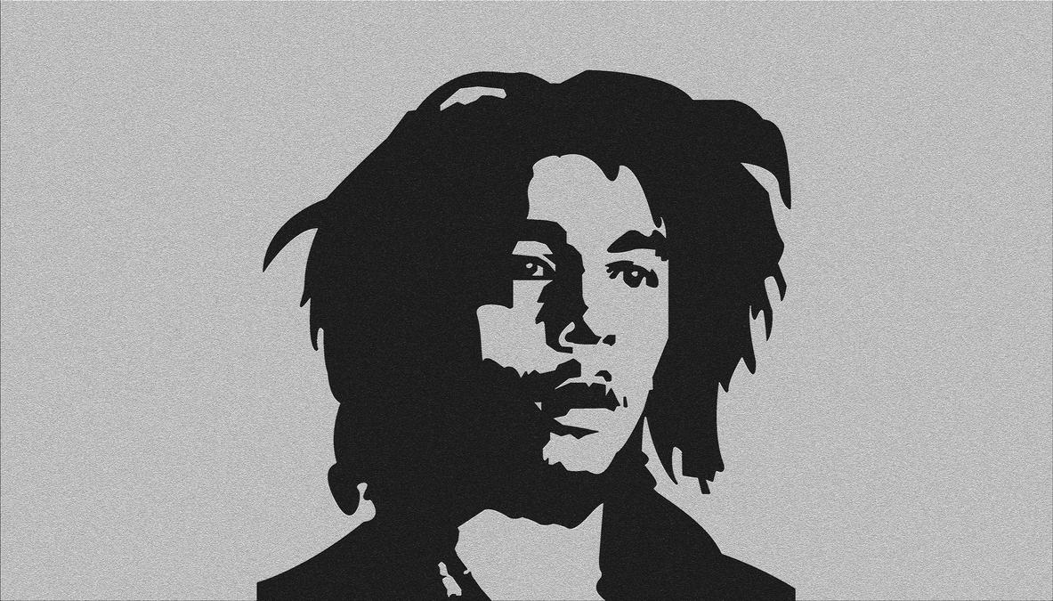 Simple Bob Marley Based On One Love Poster BW2 By Arand4