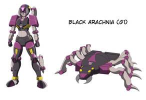 Commission - G1 Black Arachnia by VR-Hyoumaru