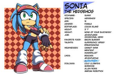Profile: Sonia the Hedgehog by VR-Hyoumaru