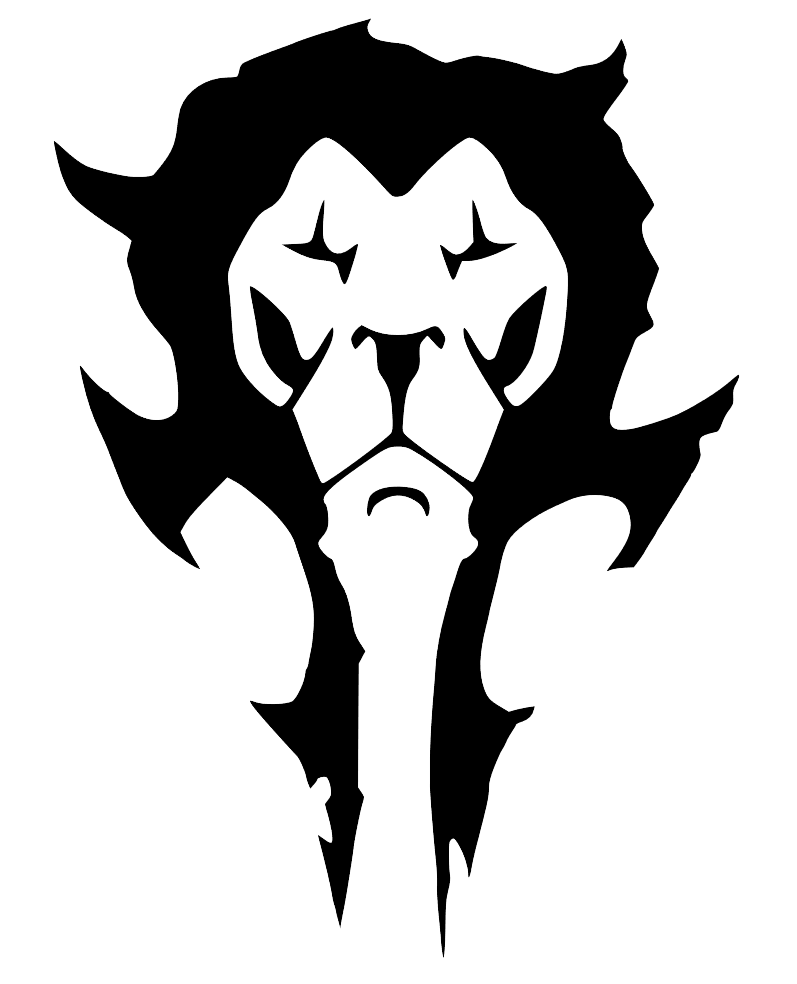 Warcraft Movie combined Horde and Alliance logos. by deathonabun