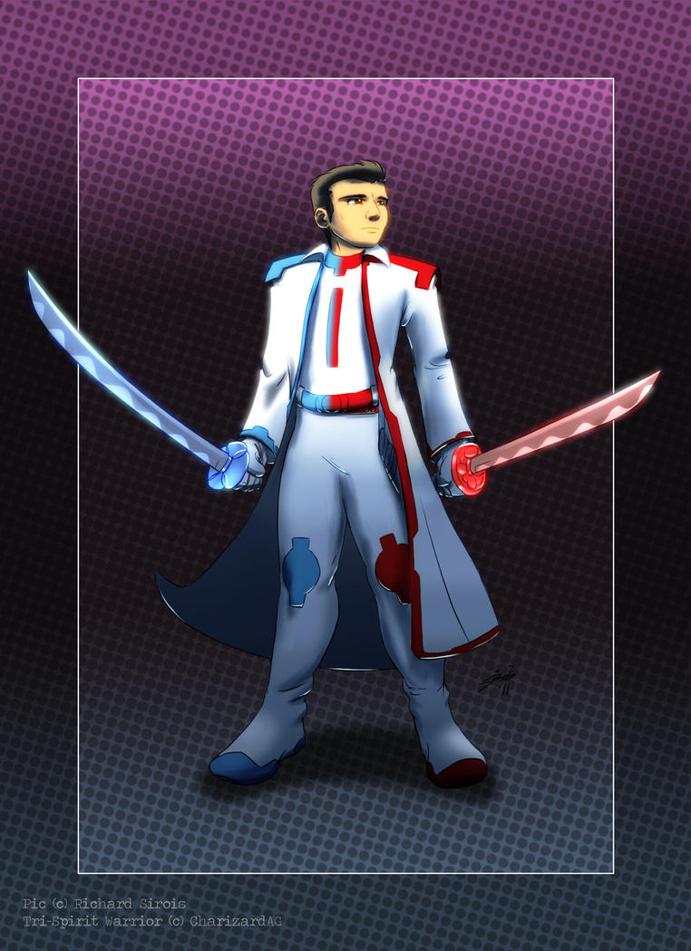 Tri-Spirit Warrior commission by charizardag