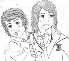 Frerard drawing by KimikoUzumaki