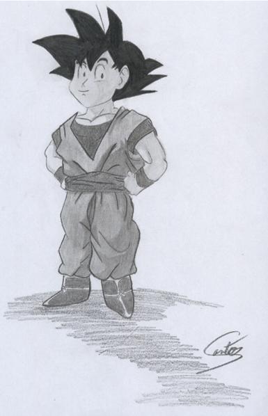 Desenho 008 Goku Pequeno By Dolfow On Deviantart