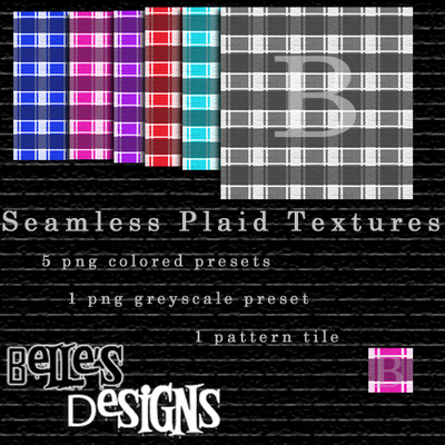 Seamless Plaid Textures by bellexmorte1