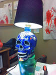Crystal Skull Vodka Lamp