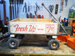 Custom built soda wagon