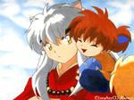 Shippou Hugs Inuyasha