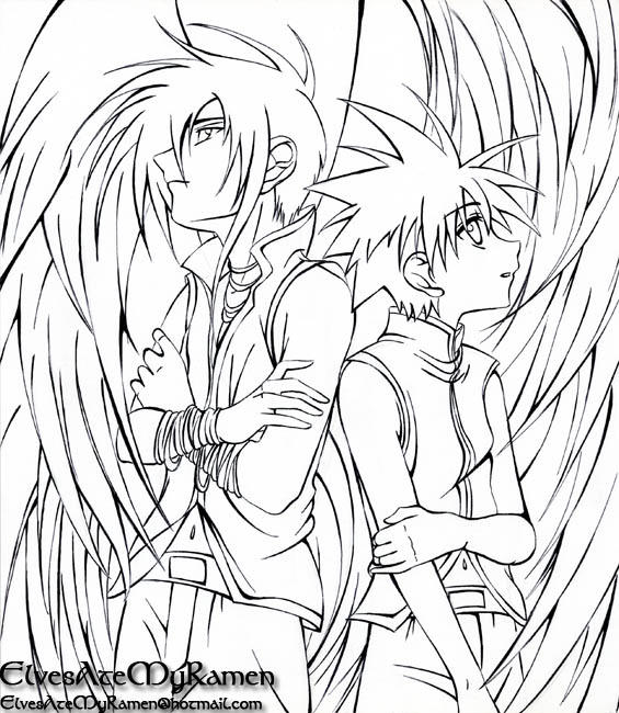 anime coloring pages angels - photo#29