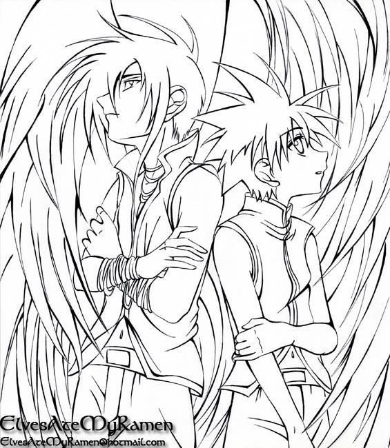 D n angel lineart by elvesatemyramen on deviantart for Dark angel coloring pages