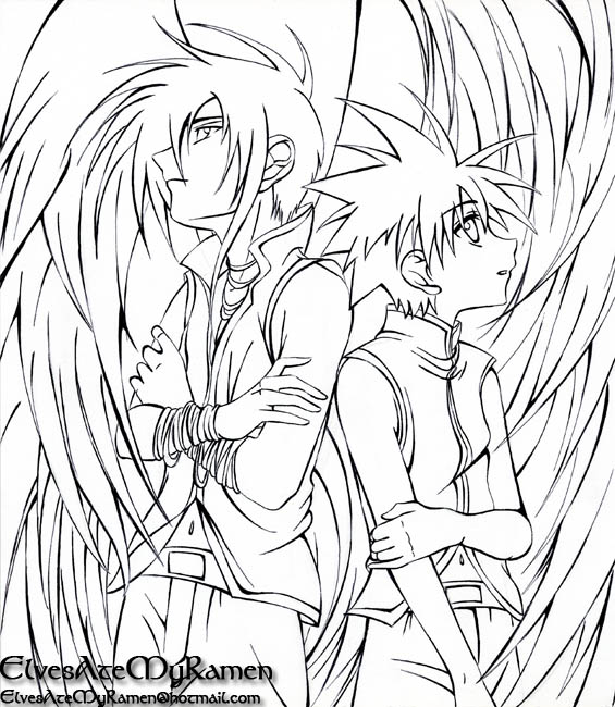 Fallen Angels Anime 1 Coloring Pages Printable   650x565