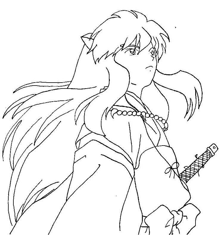 Inuyasha Coloring Pages | 791x736