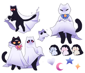 Sheetghost Kitty AUCTION AB added by odvunir