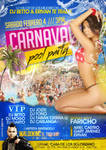 carnaval pool party flyer