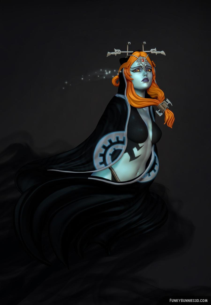 Zelda Twilight Princess - Midna sculpt by FunkyBunniesZelda Twilight Princess Midna