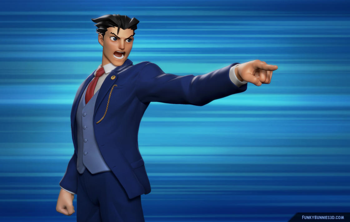 Phoenix Wright: Ace Attorney 3d fan sculpt by FunkyBunnies