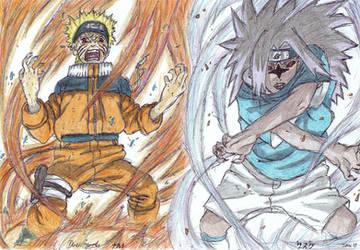 Naruto vs Sasuke by delboysb91