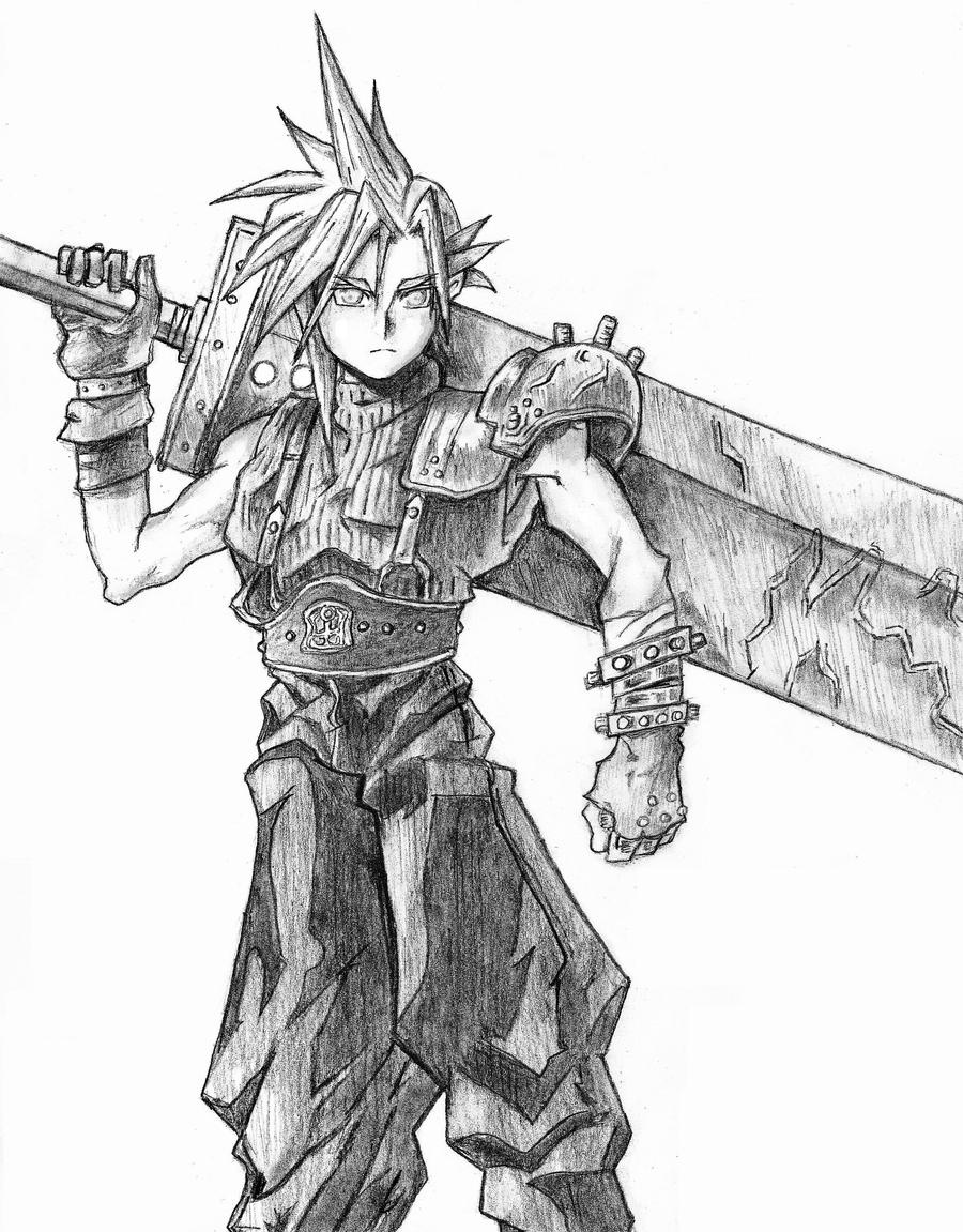 Cloud final fantasy vii by delboysb91 on deviantart for Final fantasy coloring pages