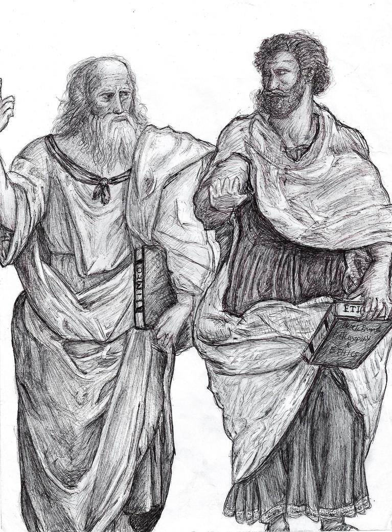 Plato and Aristotle by delboysb91 on DeviantArt