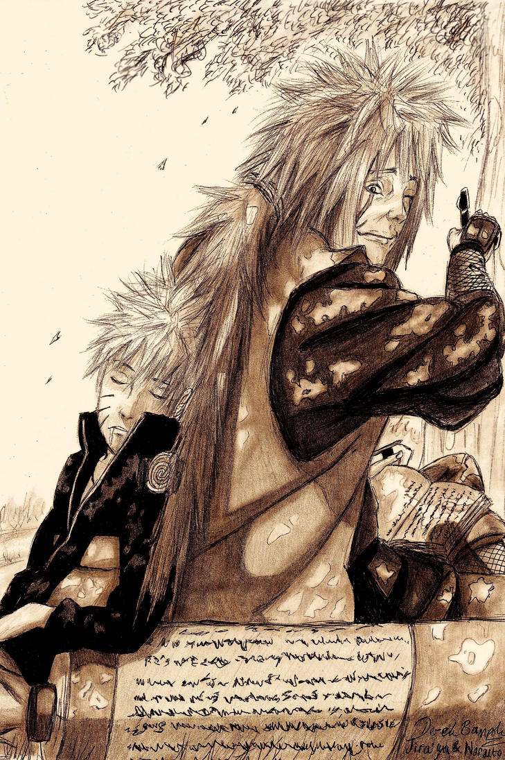 Jiraiya and Naruto by delboysb91