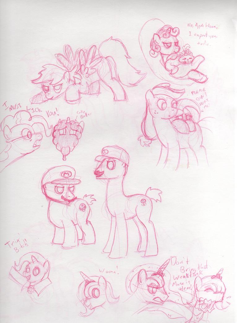 Random pony artwork by Saphin