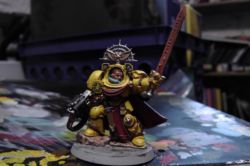 Commission Minature Imperial Fist Terminator by sniperray213