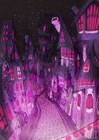 Dancing Purple houses by viowl