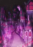 Dancing Purple houses