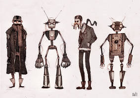 with robot friends by viowl