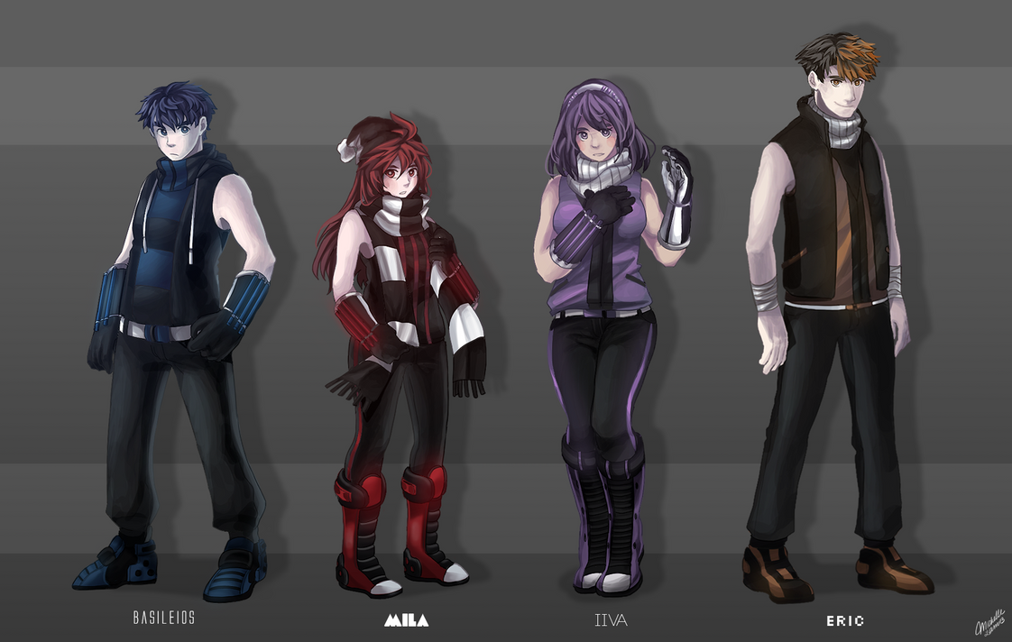 Character Lineup Pt 1 By MewDoubled