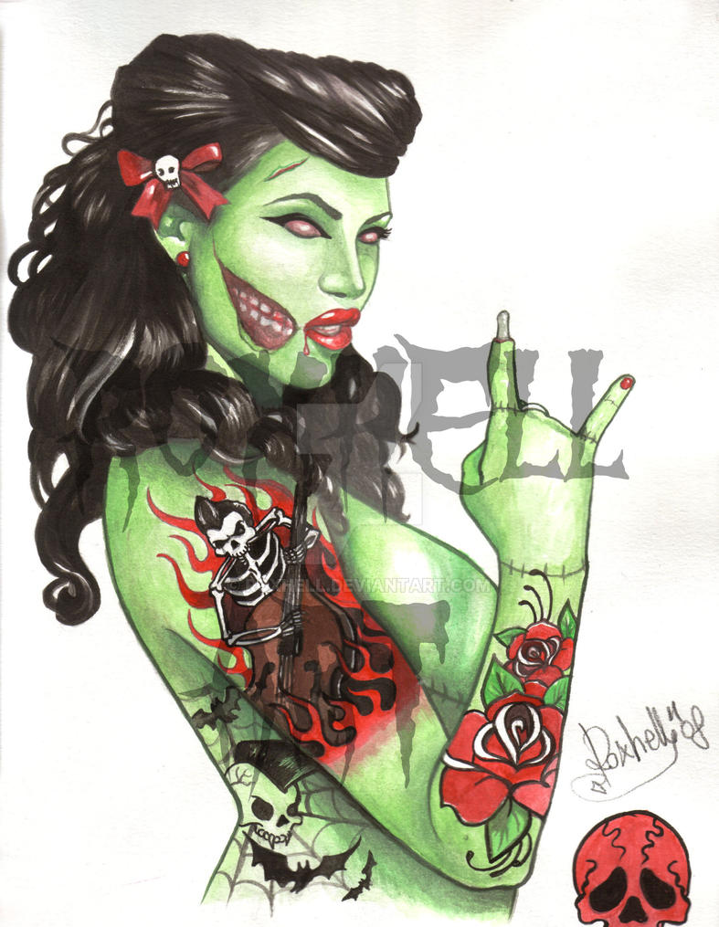 PIN UP ZOMBIE by roxhell