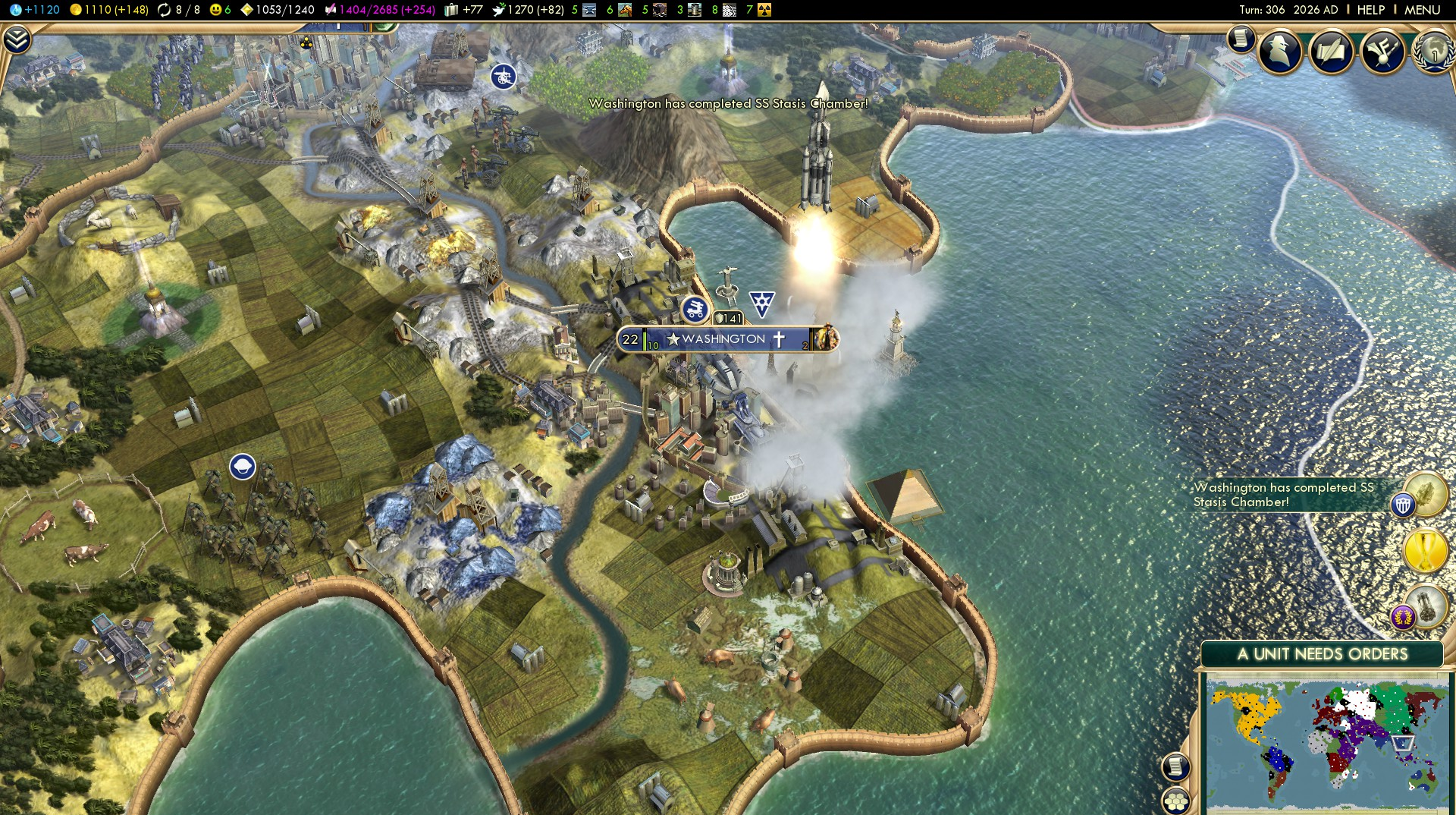 Civilization 5 Science Victory - USA by alphabetagamma1701