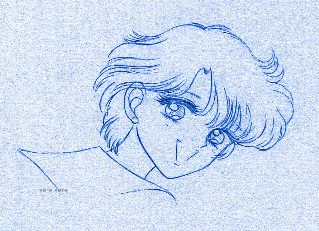 Mizuno blue sketch by seresere