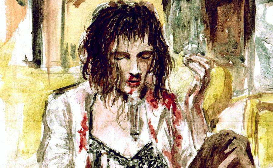 Mia Wallace Pulp Fiction by bonzobonham