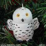 Pudgie Snowy Owl Ornament