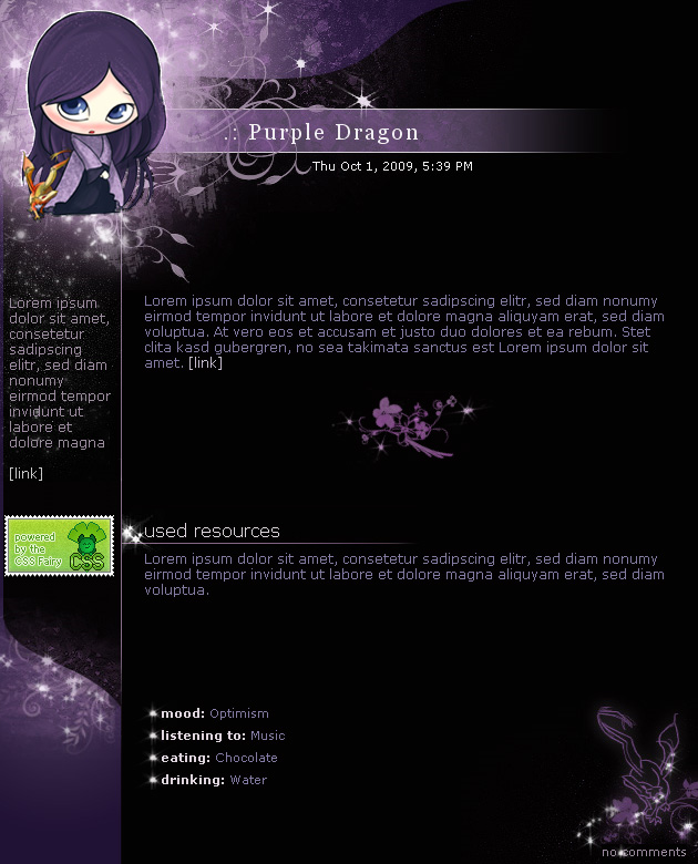 .:Purple Dragon by ginkgografix