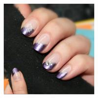 Nail Art: Purple Butterfly by GinkgoWerkstatt