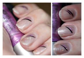 Nail Art: Black Line by GinkgoWerkstatt