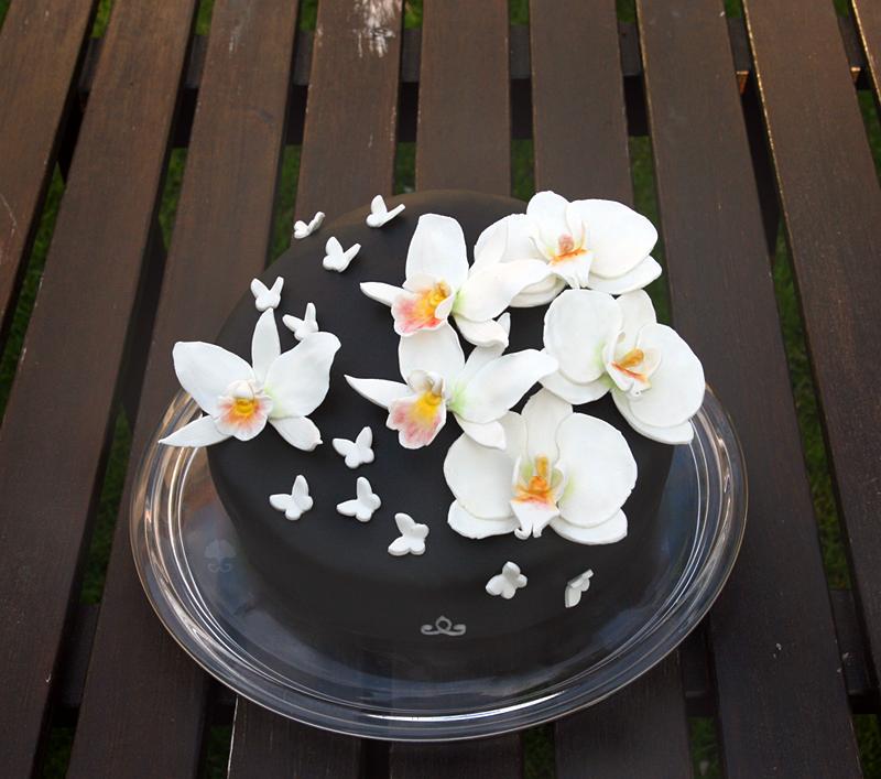 black orchid cake by ginkgografix on deviantart. Black Bedroom Furniture Sets. Home Design Ideas