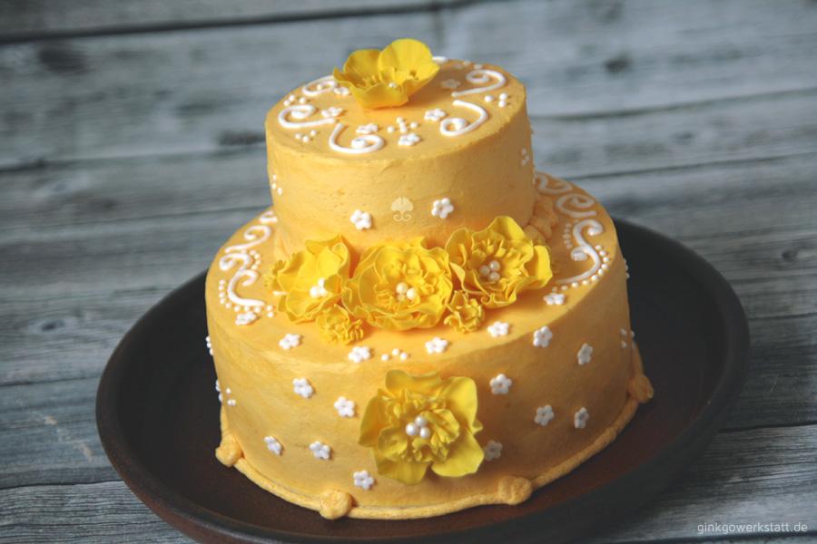 Yellow flower cake by ginkgografix on deviantart yellow flower cake by ginkgografix mightylinksfo