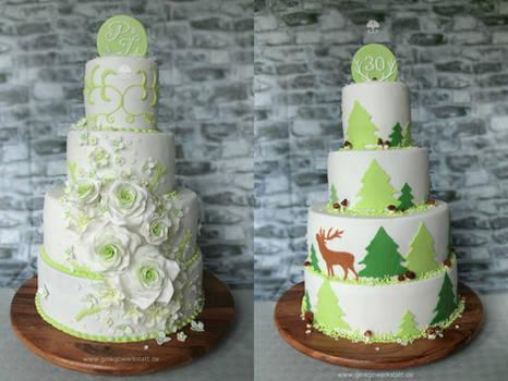 Wedding + Birthday Cake