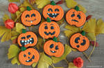 Cookies: Halloween Pumpkins by GinkgoWerkstatt