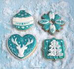 Cookies: Teal Christmas
