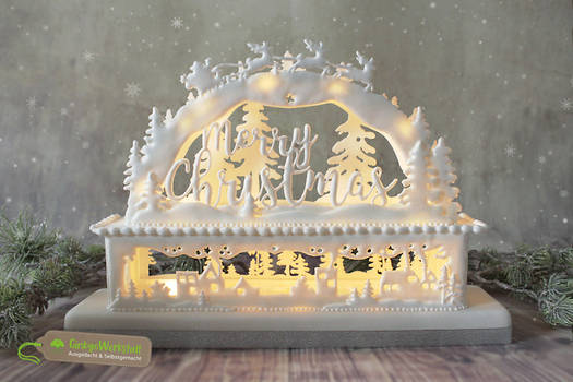 Royal Icing Light Arch 'Merry Christmas'