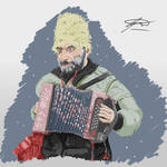 Russian peasant painting