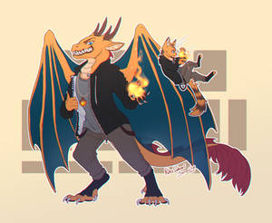 Reeko dragon and cat version