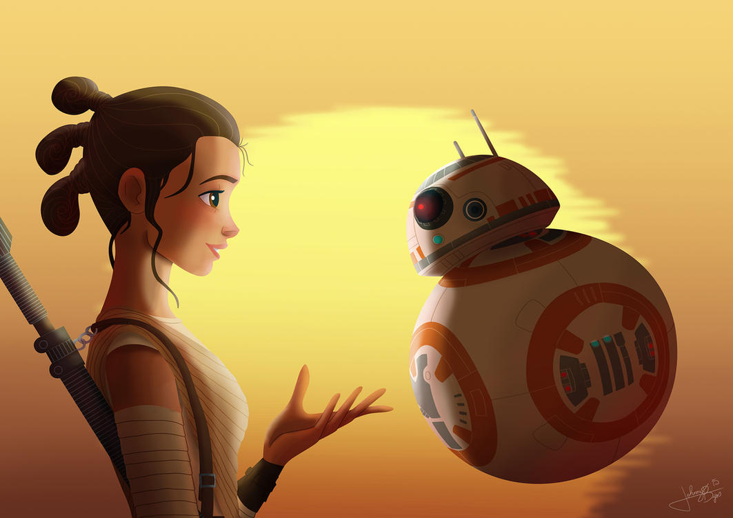 Rey and BB-8 by jpbijos